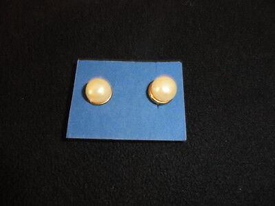 BIG Avon Pearl Stud Earrings Pearlized Pierced About 10 mm  (About Earring)