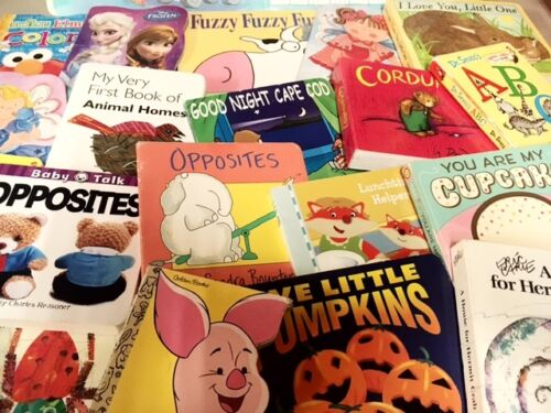 Lot of 20 Board Toddler Hardcover Picture DayCare Kid Child Books - MIX UNSORTED