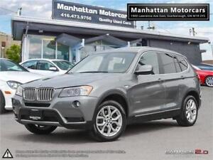2013 BMW X3 28i X-DRIVE |PANO|PARKASSIST|1OWNER|SERVICEREDS|92KM