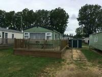Holiday Home with timber decking sited at Billing and Pitch Fees - Call James