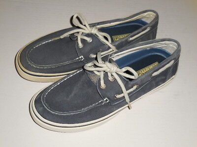 Sperry Top-Sider Navy Blue  Halyard Canvas Boat Shoes, Size 8 M