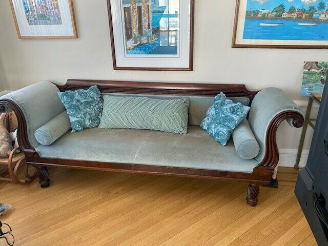 Beautiful Empire Antique American Sofa Mahogany circa 1890