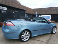 0707 SAAB 9-3 2.0T TURBO AERO AUTOMATIC POWER ROOF CONVERTIBLE 93K FSH 2 OWNER