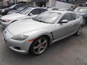 2005 Mazda RX8 Silver  Leather  Sunroof  Coupe only 97,000km