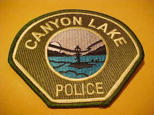 CANYON LAKE CALIFORNIA POLICE PATCH SHOULDER SIZE UNUSED