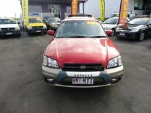 2001 Subaru Outback MY01 H6 Red 4 Speed Automatic Wagon Coorparoo Brisbane South East Preview