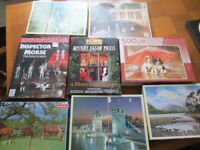 8 GOOD QUALITY JIGSAW PUZZLES-COMPLETE-COLLECT OSSETT-WAKEFIELD.