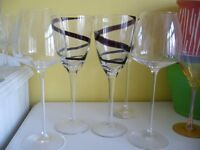 14 glasses classic Y shape Champaine & long stem wine - Southbourne