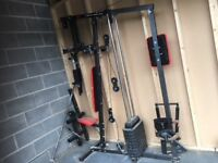 PRO POWER 3 STAGE HOME GYM - very little use