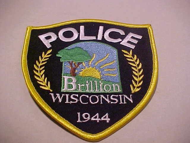 BRILLION WISCONSIN POLICE PATCH ( FREE SHIP IN U.S. ) UNUSED