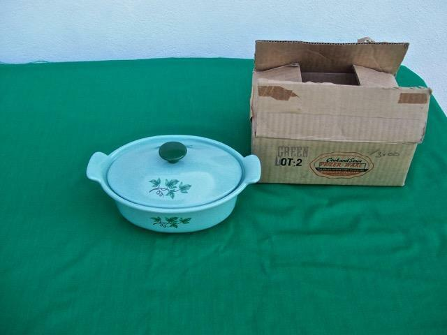 PRIZER-WARE GREEN ENAMELED CAST-IRON INDIVIDUAL LIDDED CASSEROLE NIB