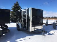 6x10 Barn Door Enclosed Cargo Trailer