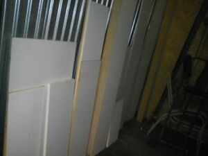 White wooden shelf boards