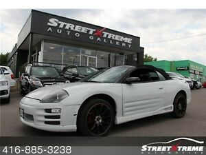 2001 Mitsubishi Eclipse GT - AS IS CONVERTIBLE, LEATHER, SPOILER