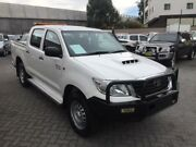 2014 Toyota Hilux KUN26R MY14 SR (4x4) White 5 Speed Automatic Dual Cab Pick-up North Strathfield Canada Bay Area Preview