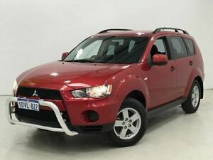2011 Mitsubishi Outlander ZH MY11 LS Red 6 Speed Constant Variable Wagon Edgewater Joondalup Area Preview