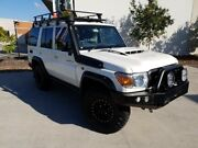 2018 Toyota Landcruiser VDJ76R Workmate White 5 Speed Manual Wagon Robina Gold Coast South Preview