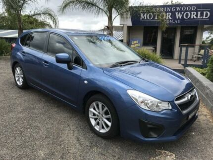 2014 Subaru Impreza Blue Manual Hatchback