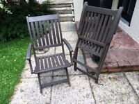 Hardwood Garden Chairs Folding