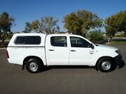 2006 Toyota Hilux TGN16R Workmate White 5 Speed Manual Dual Cab Pick-up Albert Park Charles Sturt Area Preview