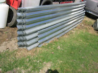 Galvanized steel siding roofing. 480 sq. ft.