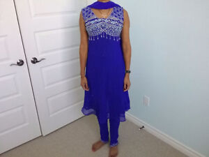 Indian Royal Blue Anarkali Suit