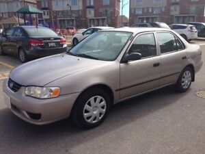 2002 Toyota Corolla CE WITH KEY LESS ENTRY NO ACCIDENT.