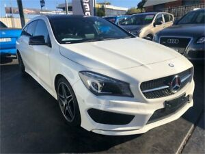 2015 Mercedes-Benz CLA200 X117 806MY D White Sports Automatic Dual Clutch Wagon Lansvale Liverpool Area Preview