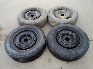 4 Toyo winter tires with steel rims for Toyota Camry