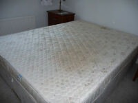 King size mattress and drawer divan