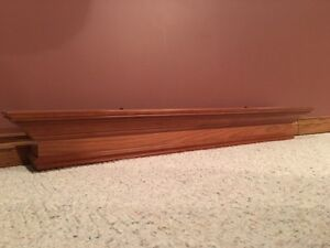 Hand Carved Cherry Wood Fireplace Mantel Kitchener / Waterloo Kitchener Area image 1