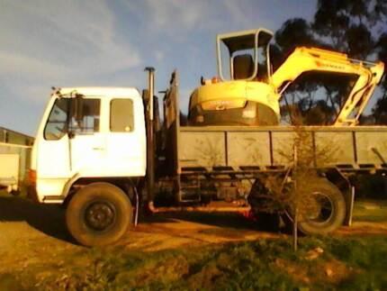 FM515 1985 Mitsubishi tipper truck  Yanmar Vio50-3 5ton excavator Junortoun Bendigo City Preview