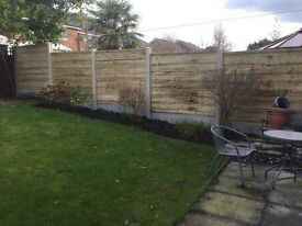 🔨🌟 New Heavy Duty Waneylay Pressure Treated Fence Panels