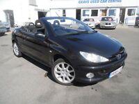 PEUGEOT 206 1.6 BLACK/SILVER S COUPE CABRIOLET 2d 110 BHP (black) 2005