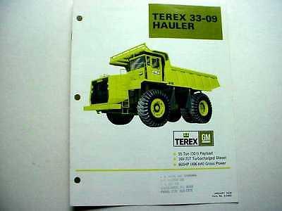 2 Terex 33-09 Hauler Truck Literature Pieces
