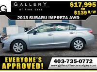 2013 Subaru Impreza 2.0i AWD $139 bi-weekly APPLY NOW DRIVE NOW