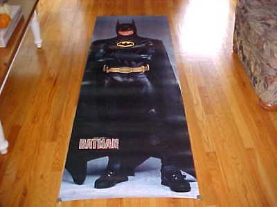 HUGE Poster 1989 Michael Keaton 76x26 BATMAN Movie DC Comics Dark Knight RARE!!!
