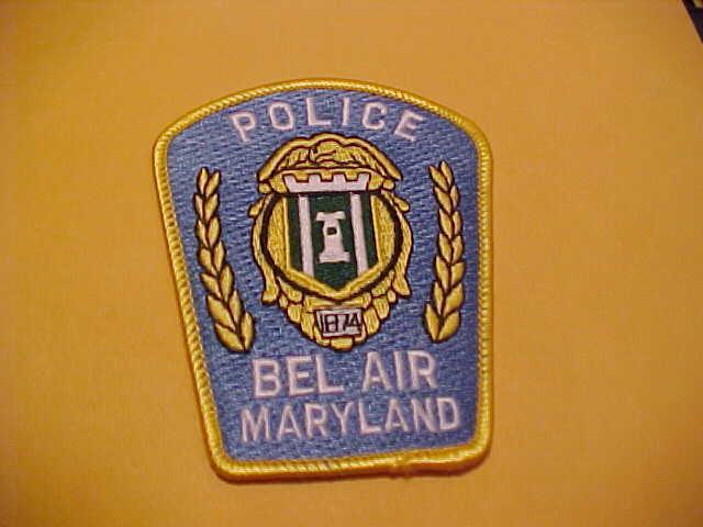 BEL AIR  MARYLAND POLICE PATCH SHOULDER SIZE UNUSED T3