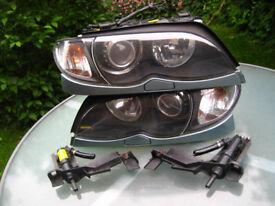 BMW E46 3 Series XENON Headlights. Saloon / Touring Facelift - GENUINE