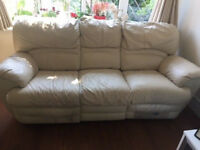 FREE OF CHARGE - 3 PIECE LEATHER SUITE - ARM CHAIR, 2 SEATER and 3 SEATER