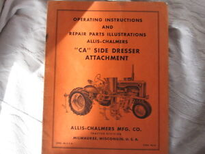 Allice Chalmers CA tractor , and CA  accessories manuals (4 pc) Cambridge Kitchener Area image 5