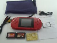 PXP 3 Slim Station - 16 Bit Pocket Console + 2 Cartridges (1000's of Games) £12 Brand New and Boxed