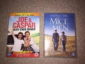 Joe & Caspar Hit the Road and Of Mice & Men DVDs