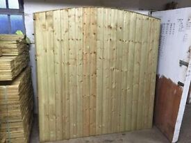 🌟 Excellent Quality Heavy Duty Bow Top Fence Panels