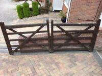 Wooden gates - heavy duty