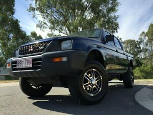 2002 Mitsubishi Triton MK GLX Blue 5 Speed Manual Dual Cab Kingston Logan Area Preview