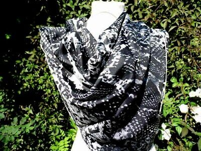 """Jane Carr  35"""" square hand rolled silk Scarf"""