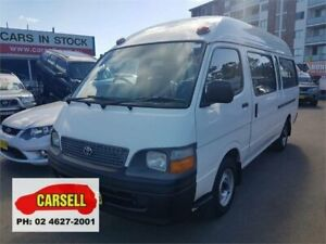 1998 Toyota HiAce RZH125R Commuter Super LWB White 4 Speed Automatic Bus Campbelltown Campbelltown Area Preview
