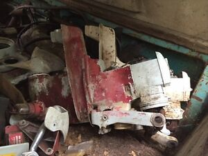 2 older Volvo Penta legs/props/other assorted parts