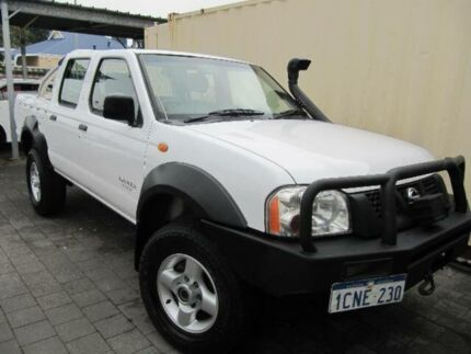 2006 Nissan Navara D22 DX (4x4) White 5 Speed Manual 4x4 Cab Chassis East Victoria Park Victoria Park Area Preview